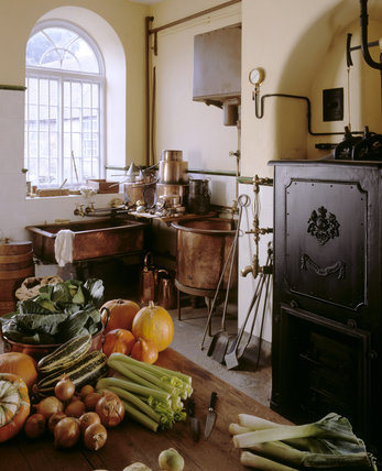 A corner of the Scullery, showing the boiler, the copper & sink