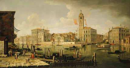 THE ENTRANCE TO THE CANAREGGIO, VENICE, by the Venetian School, C18th