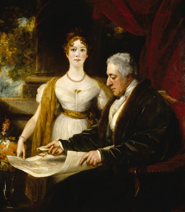 GEORGE O'BRIEN WYNDHAM, 3rd EARL OF EGREMONT (1751-1837) AND MARY, LADY MUNSTER (d1842) (his second daughter) by Thomas Phillips (1770-1845)