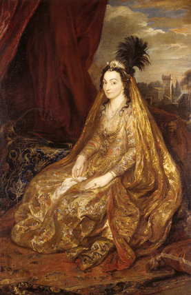 TERESIA, LADY SHIRLEY (d.1668) by van Dyck (1599-1641) Circassian wife of Sir Robert Shirley, whom she married before 1607