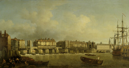 Old London Bridge By Samuel Scott 18th Century From The