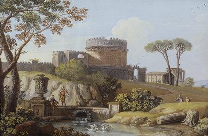 TOMB OF CECILIA METELLA by Giovanni Battista Busiri from the Cabinet at Felbrigg Hall