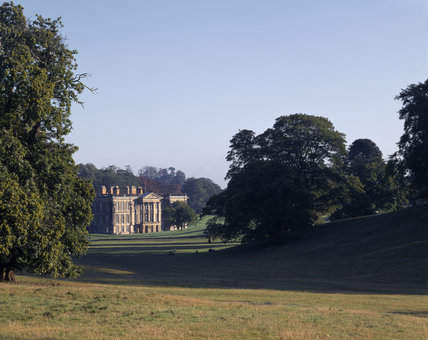 The South Front of Calke Abbey from the Park in the foreground