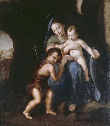 THE MADONNA AND CHILD WITH THE INFANT ST