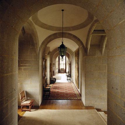 Looking down the corridor through successive archways from the Drawing Room