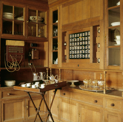 A House Telephone Exchange in the Pantry at Castle Drogo