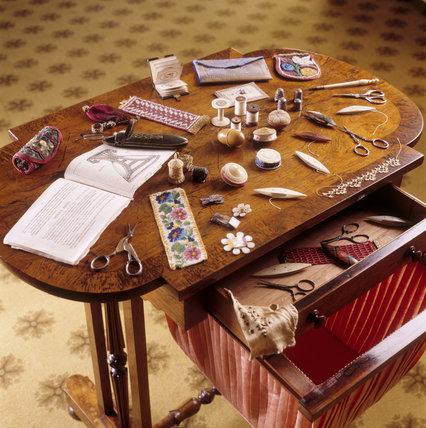 The sewing table in the Boudoir at Saltram