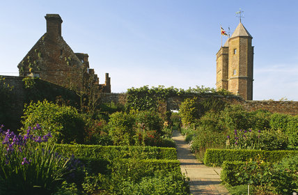 A view of the gardens at Sissinghurst Castle Garden, Kent