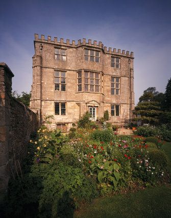 This is a view of the East Front of Newark Park, Glouscestershire