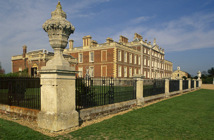 The south front of Wimpole Hall, Cambs