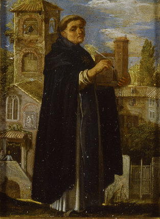 ST THOMAS AQUINAS by Adam Elsheimer (c.1578-1610)