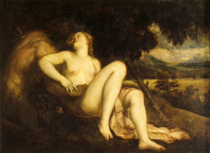 NYMPH AND FAUN, ?Titian (c.1487-1576) and another hand.
