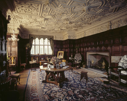The Drawing Room at Gawthorpe Hall showing Jacobean panelling c.1604