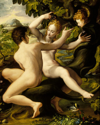 THE TEMPTATION attributed to the studio of Girolamo Macchietti