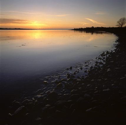 Shoreline at The Narrows near Cloghy Rocks at dawn