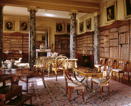 The Library at Saltram