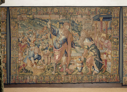 One of the Flemish (late C16th) tapestries in the Green Velvet Room