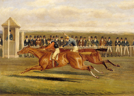`ELIS' BEATING COLONEL PEEL'S `SLANE', by Henry Alken (1771- 1850)