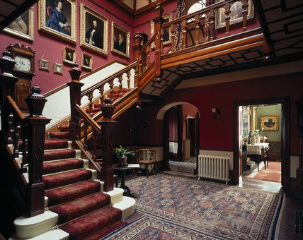 The Staircase Hall At Sunnycroft Showing The Parquet