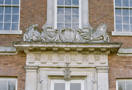 View of the central window on the north front of Beningbrough Hall