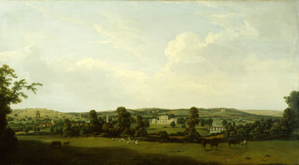 SHUGBOROUGH AND THE PARK FROM THE EAST SHOWING STUARTS MONUMENTS by Nicholas Dall c. 1769