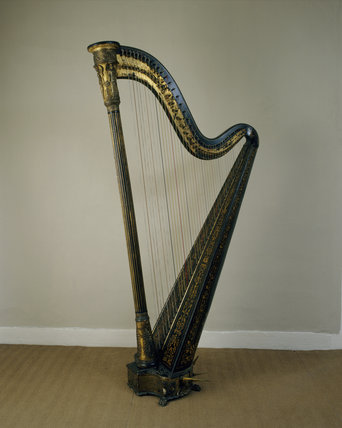 The Irish Harp, c1880's, in the South West Room at Fenton House