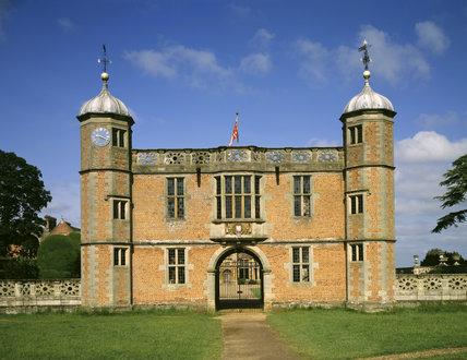 The Gatehouse at Charlecote, built of beautiful brick