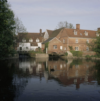 The exterior of Flatford Mill Estate in Suffolk
