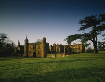 View of the Gatehouse and East Front of Charlecote Park in November 1992