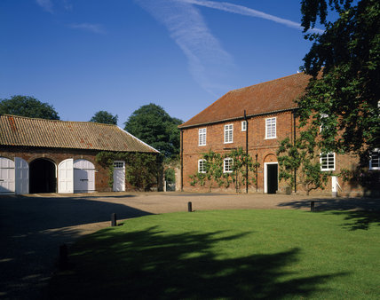 View of the coach-houses in the stableyard at Gunby Hall, built in 1735 by William Meux Massingberd