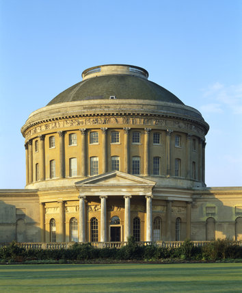 A view of the Rotunda from the north front at Ickworth