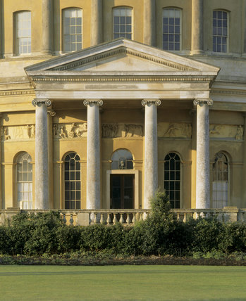 Detail of the Entrance Front of the Rotunda at Ickworth