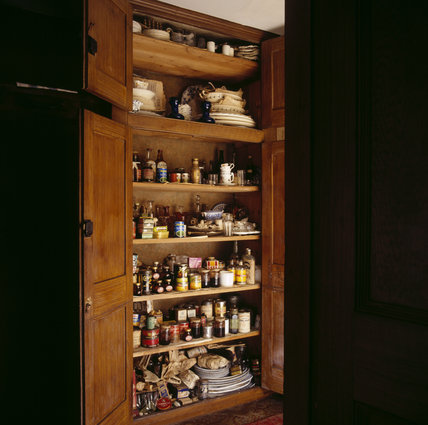 View of the store cupboard found on the second-floor landing