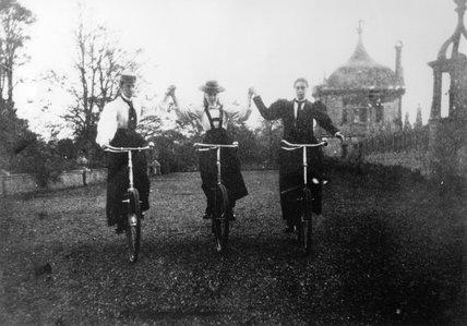 Bicycle antics! at Montacute