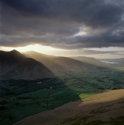 The Naddle Back Valley (below Castlerigg) with Clough Head behind