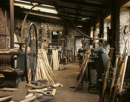 The finishing shop at the Spade Mill