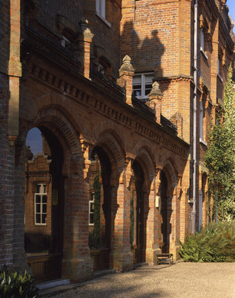 A view of the Entrance Arcade on the North Front of the House