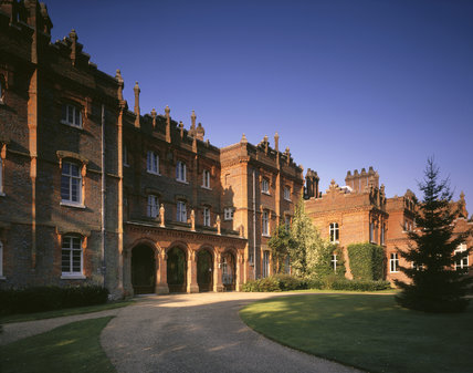 A view of the North (entrance) Front of the Manor
