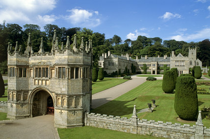 View Of The 17th Century Gatehouse And Lanhydrock House