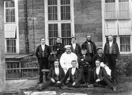 Male Servants At Petworth West Sussex A Photograph Taken