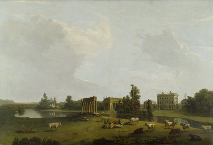 VIEW OF THE WEST FRONT OF THE HOUSE, by Nicholas Dall (fl