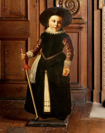 Close-up of Flemish dummy-board figures c 1600
