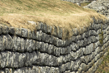 Housesteads, Hadrians Wall, Northumberland during the July 2006 heatwave
