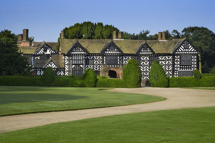 The north front of Speke Hall, Merseyside