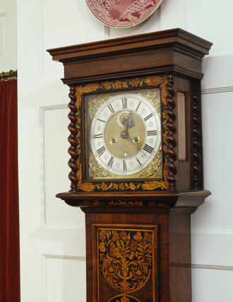 A detail of the Longcase Clock that stands at Standen in the Hall