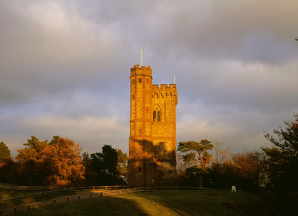 A view of the West Front of Leith Hill Tower