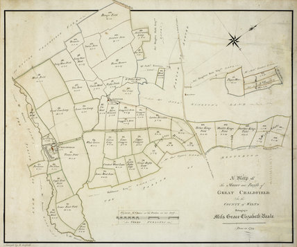 Map of the Manor and Parish of Great Chalfield, 1794, at Great Chalfield Manor, Wiltshire