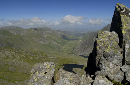 The view from the Glyders of the Nant Ffrancon valley (National Trust), Snowdonia, Wales