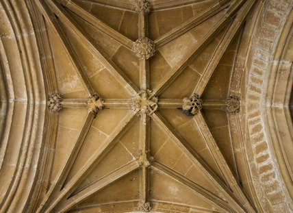 The Porch ceiling in the Entrance Porch, Great Chalfield Manor, Wiltshire