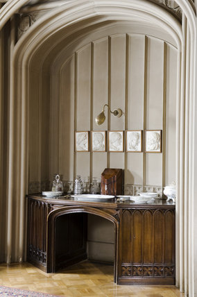 The arched niche in the dining room at hughenden manor for Dining room niche ideas
